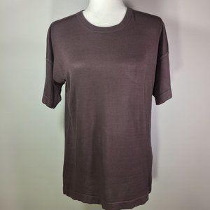 Ellen Tracy/ Linda Allard Purple Silk Sweater M